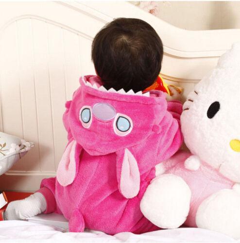 Unisex Soft Baby Toddlers Pajamas Kigurumi Animal Cosplay Costume Romper Onesi1