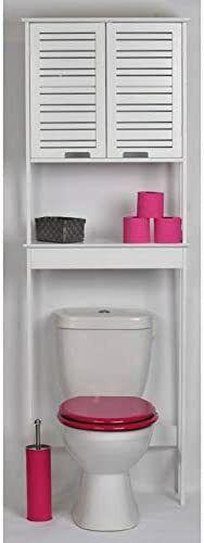 Mueble de Sanitario para Baño WC - 2 puertas y 1 estante...