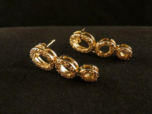 Aretes colgadores 24 quilates dorado día de San Valentín plata señora arete enchufe