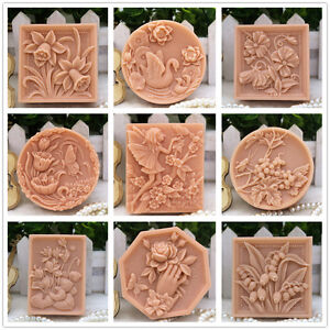 Silicone-Soap-Mold-Craft-Bird-Flower-Soap-Making-Mould-DIY-Candle-Handmade-Mold