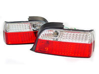 Depo Bmw E36 2dr Coupe 2d Convertible Led Red/clear Tail Lights Rear Lamps