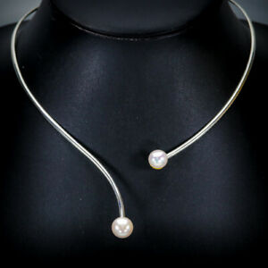 Handmade-A-SET-Natural-Pearl-925-Sterling-Silver-Necklace-Length-19-5-N02372