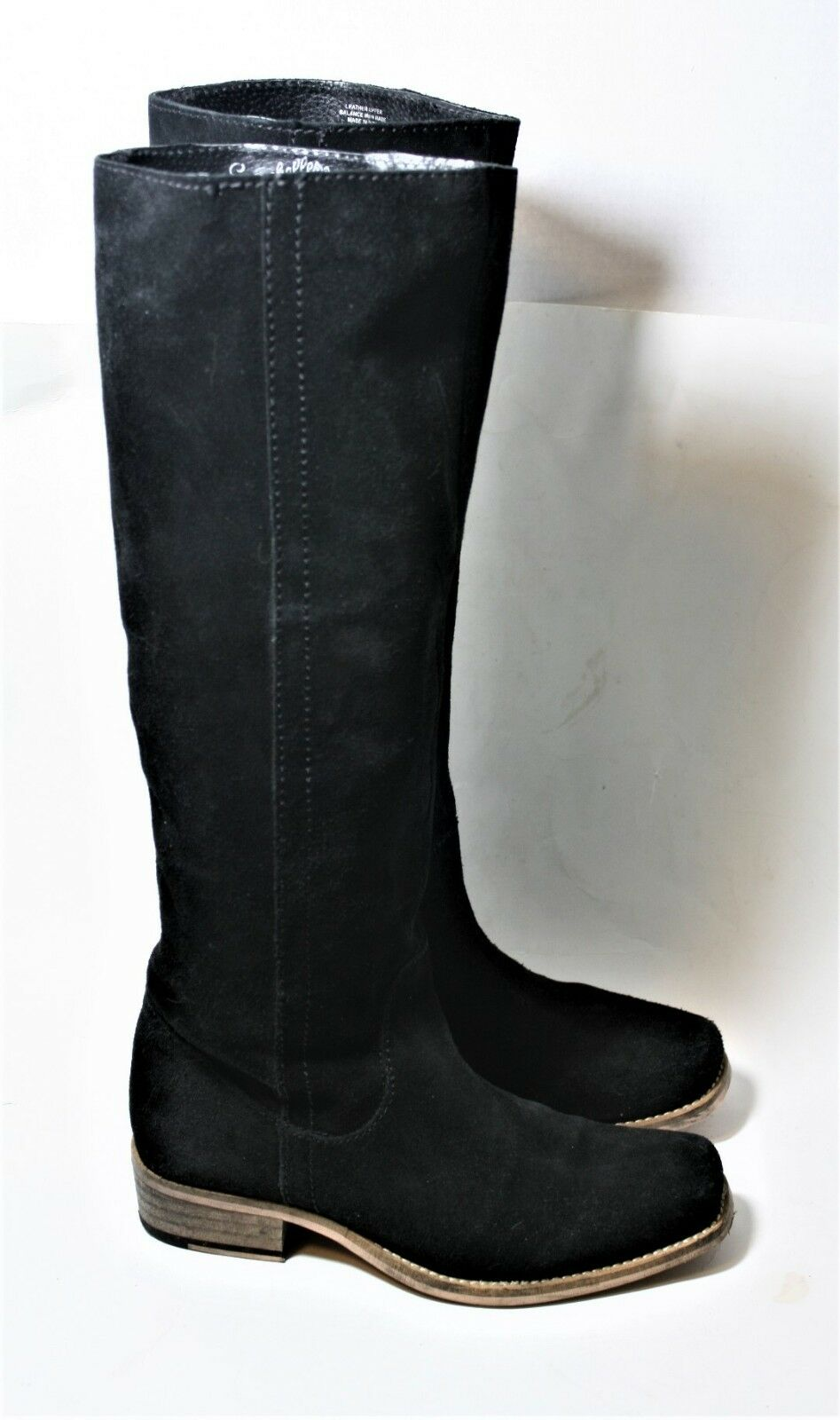 SEYCHELLES SHOES SECRETIVE WESTERN WESTERN WESTERN TALL BOOT BLACK SUEDE PULL ON 6.5  190 c36586