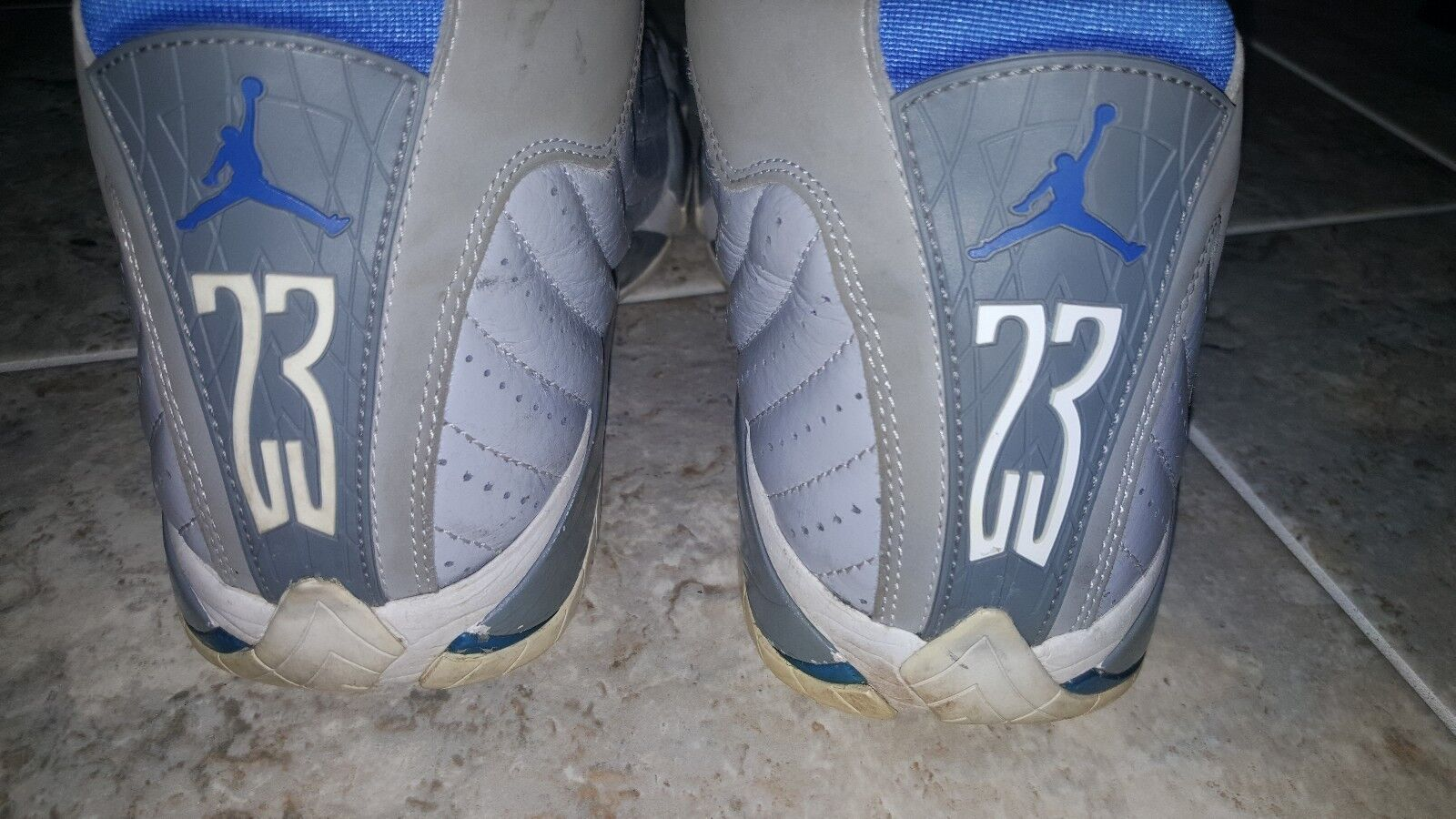 Nike Air Jordan 14 XIV Sport bluee Size Size Size 8.5 Wolf Grey 487471-004 Offers Accepted 402399