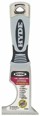 Hyde 6-in-1 Stainless Multi-tool Paint Tool Putty Knife Roller Cleaner - 06986