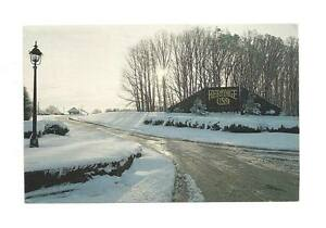 FORT-MILL-SC-Heritage-USA-Entrance-Winter-Snow-Vtg-PC