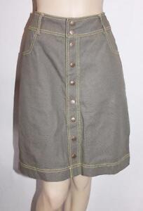 BOOM-SHANKAR-Brand-Khaki-Denim-Straight-Skirt-Size-8-BNWT-SU66