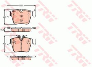 Scheibenbremse für Bremsanlage Hinterachse TRW GDB2154 Bremsbelagsatz
