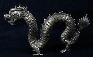 Antiguo-Dragon-Bronce-Plateado-China-28-cm-H-16-5-CM