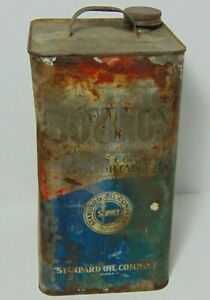 Antique-Vintage-1930s-COW-LIVESTOCK-BOVINOL-STANDARD-OIL-COMPANY-INDIANA-OIL-CAN