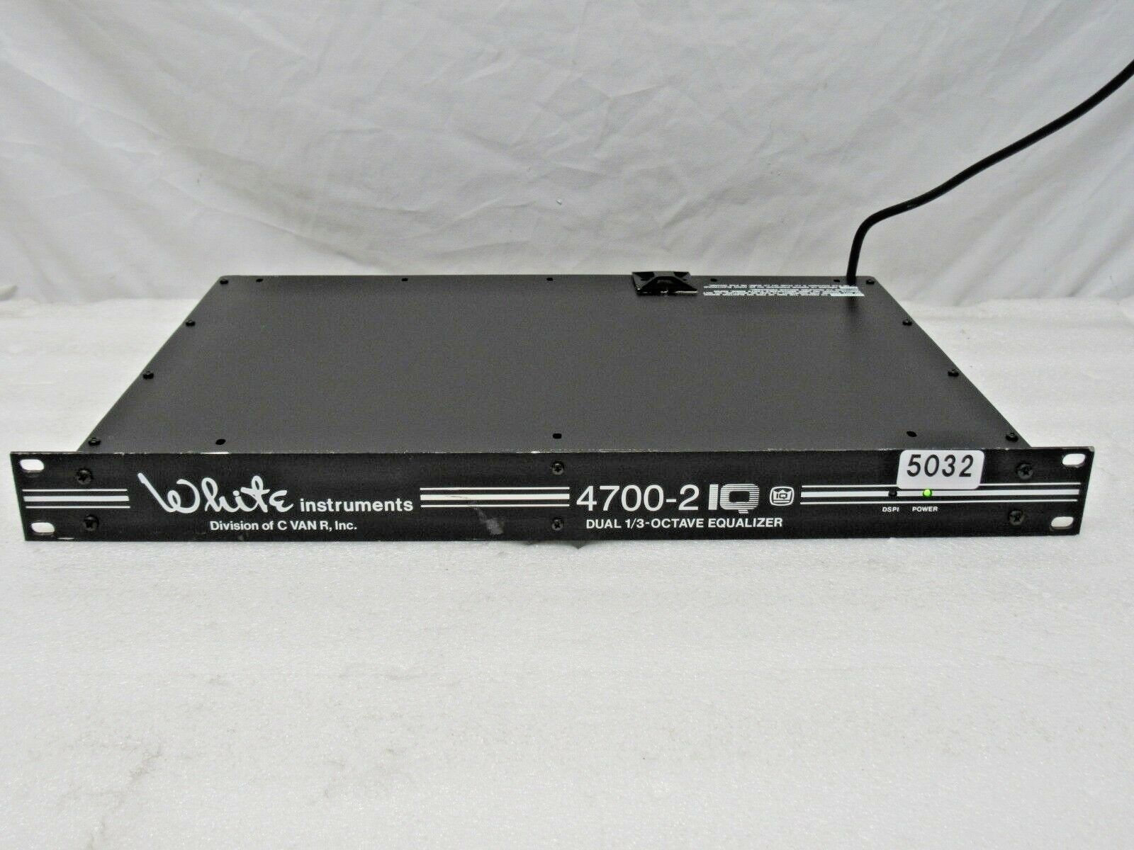 Weiß INSTRUMENTS 4700-2IQ DUAL 1 3-OCTAVE EQUALIZER (ONE)