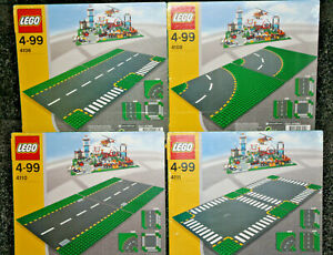 XX Rare Lego City Coloured Road Base Plates; 4108, 4109 ...