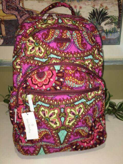 87d3bd1fcf Vera Bradley Large Essential Campus Laptop Backpack Resort Medallion ...