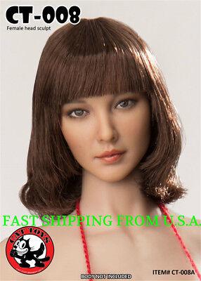 1//6 Female Head sculpt American European CT008C for Pale Phicen Hot Toys ❶USA❶