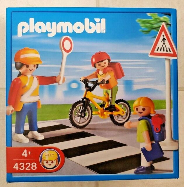 New Playmobil 4328 - School Crossing Guard with Kids