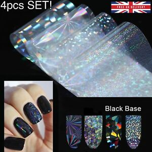 4pc-X-20cm-SET-TRANSFER-FOIL-NAILS-STICKERS-Holo-Glitter-Holographic-Decals-UK