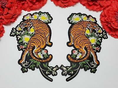Tiger patches 2pc//set Iron on Fashion patches