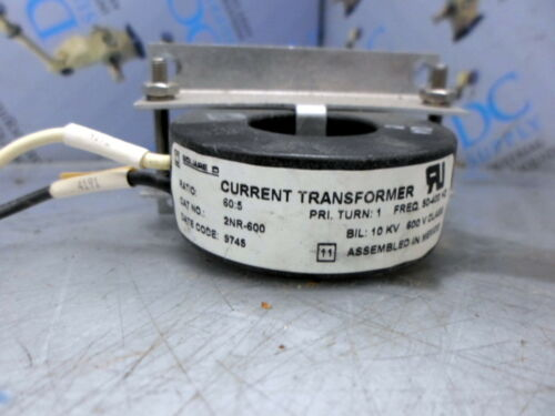 SQUARE D 2NR-500 50:5 10 KV 600 V CURRENT TRANSFORMER