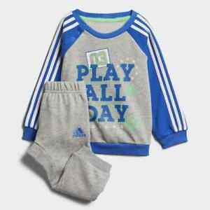 Adidas Infant Boys Graphic French Terry Jogger Tracksuit Kids Children Full Set