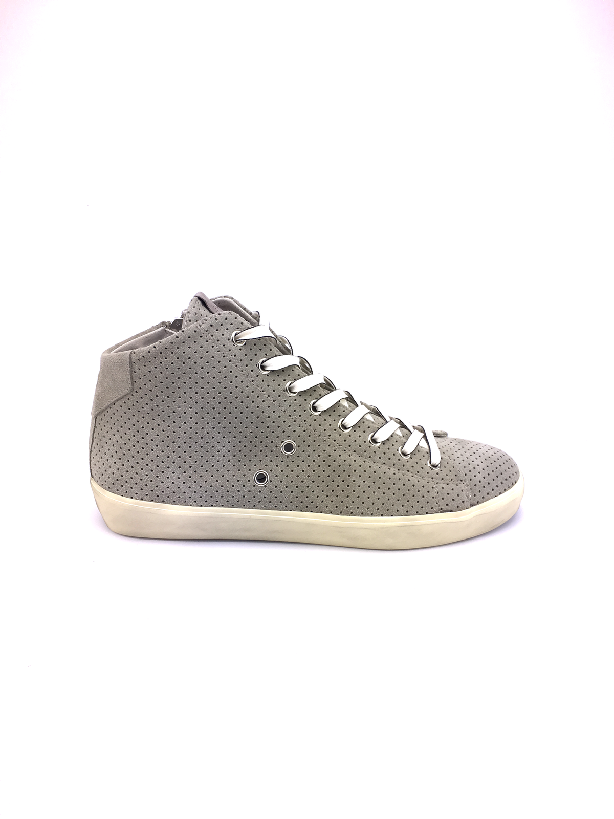Leather Crown suede taupe mid sneakers