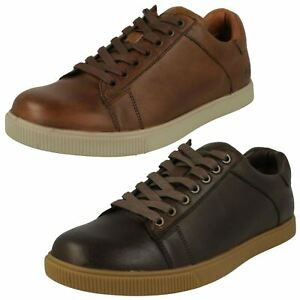 Details about Mens Skechers Volden Fandom 65323 Casual Lace Up Leather Trainers