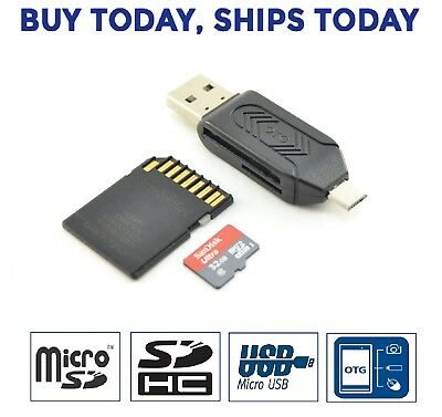 Micro USB OTG To USB 2.0 Adapter; SD//Micro SD Card Reader With Standard USB
