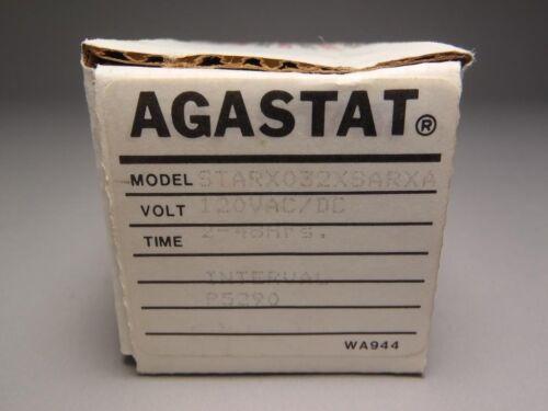 Agastat Time Delay Relay Model STARX032XSARXA 120VAC//DC New in Box!