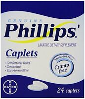 4 Pack - Phillips' Laxative Caplets 24 Caplets Each on sale