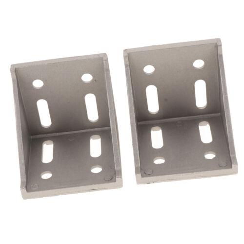Eckverbinder aus 2 er Aluminiumprofilen L förmiger rechtwinkliger Verbinder