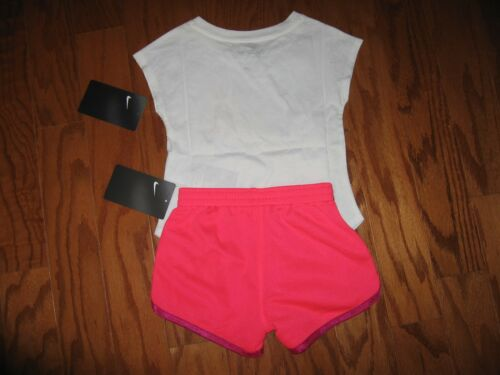 Nike 2 Pc Outfit Set Tee Shirt /& Dri Fit Shorts Toddler Girls 2T//3T//4T NWT