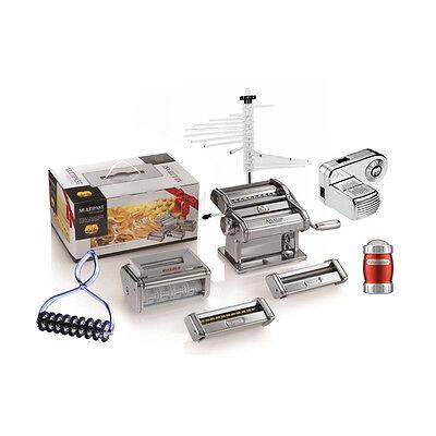 MARCATO Multipast Completo set Sfogliatrice + 9 Accessori, Motore Pasta Maker