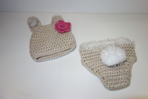 FAST SHIP 3 DAYS Newborn Crochet Knit Bunny Christmas Gift Kids Children 6 mo
