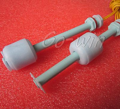 2PCS PP Liquid Water Level Sensor Horizontal Float Switch Down 100mm M82