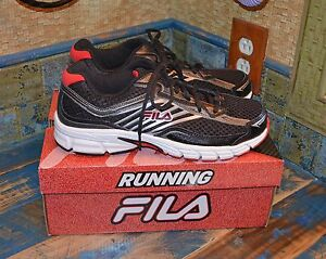 NEW MEN/'S FILA INDUS RUNNING Coolmax Lightweight ATHLETIC SHOES Red,Black White