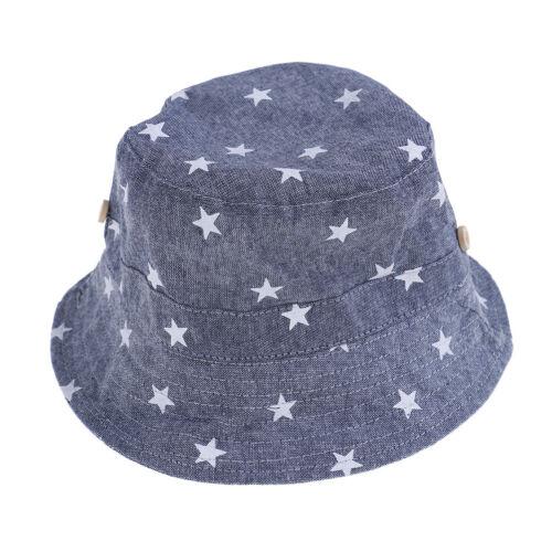 1 x Soft cotton summer baby sun hat infant boys girls denim bucket hats