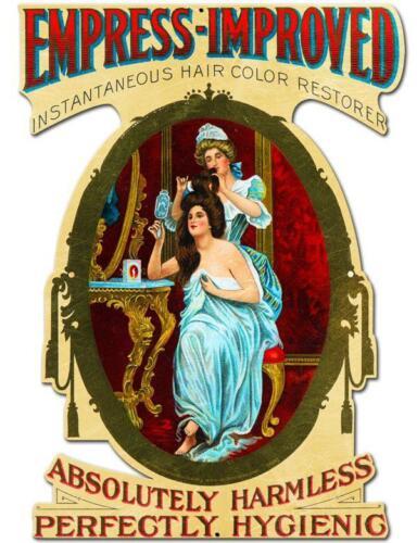 Vintage Beauty Shop Barber Shop Empress Improved Hair Restorer Metal Sign BS041