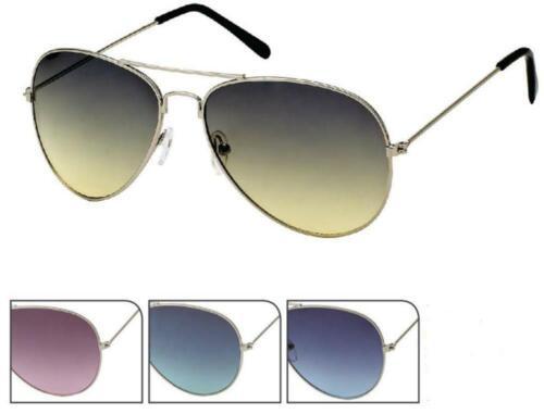 Occhiali Da Sole Occhiali Pilota 400 UV prima d/'argento.. struttura in metallo sfumatura tinteggiato