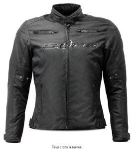Blouson-Moto-Femme-Tissu-Noir-Toutes-saisons-S-Line-avec-doublure-amovible