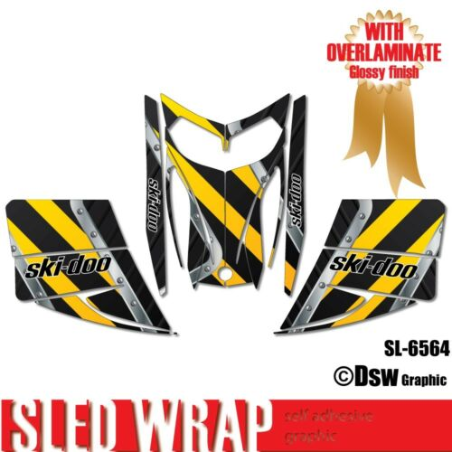 SLED WRAP DECAL STICKER GRAPHICS KIT FOR SKI-DOO REV MXZ SNOWMOBILE 03-07 SL6564
