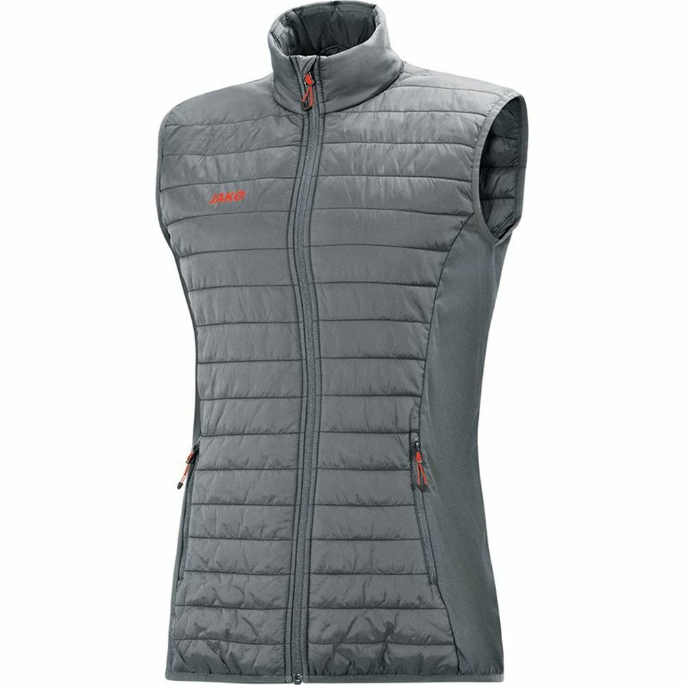 Jako Sport Training Casual donna Quilted Full Zip Vest Sleeveless Jacket Gilet