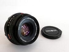 Superba Minolta 45mm f2 standard MD Mount Lens, menta con tappi.