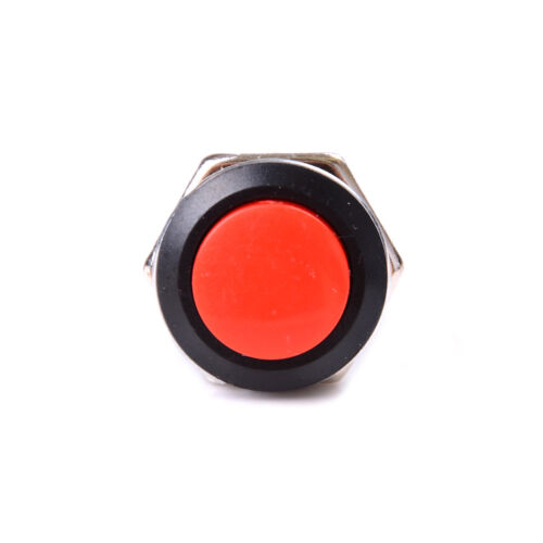 Mini Round Red 5Pcs Momentary AC On//Off Push Buttons Horn Switch for Car AutRCUS