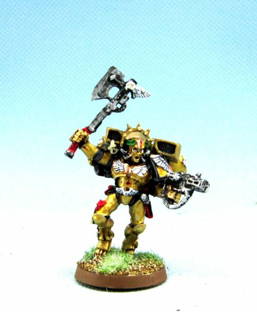 General Warhammer 40k Space Marines: Warhammer 40k Space Marine Blood Angels Commander Dante