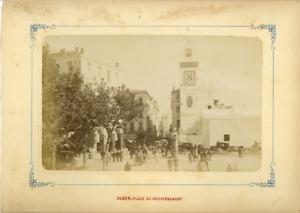 Algerie-Alger-Place-du-Gouvernement-Vintage-albumen-print-Tirage-albumine