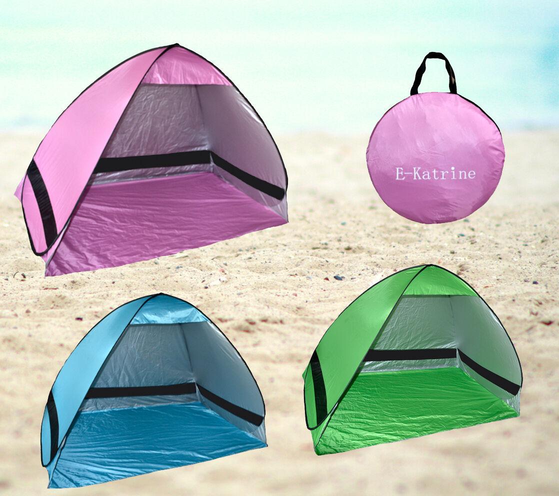 tente tente tente automatique avec protection UV instantanée POPUP de plage rose bleu vert 77f9b7