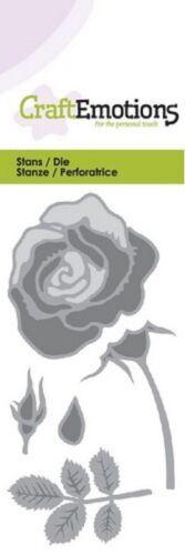 Craft Emotions Cutting Embossing /& Debossing Dies Rose 0166