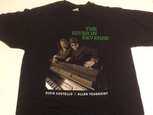ELVIS COSTELLO /& ALLEN TOUSSAINT River in Reverse Tour 2007 T SHIRT mens L new