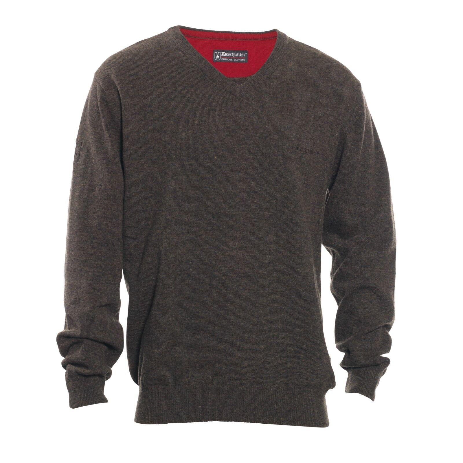 Top  oferta  Deerhunter Brighton suéter V-cuello, artículos de punto de cordero  venta con descuento