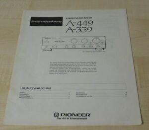 Pioneer A-339 / A-449 Bedienungsanleitung Deutsch