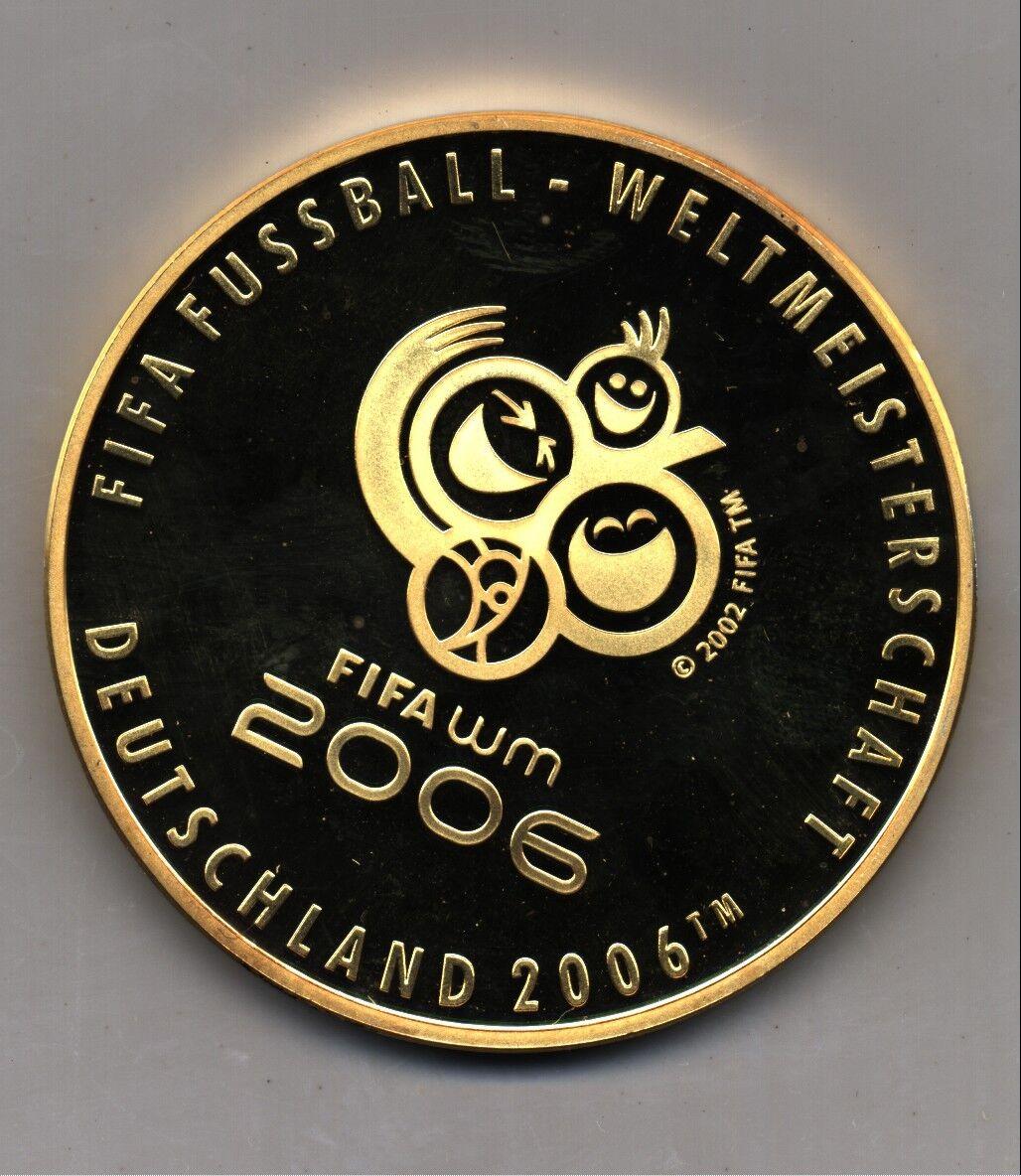 Oficial Fútbol Copa del Mundo 2006 Dorado oro Medalla Moneda De Plata De Alemania